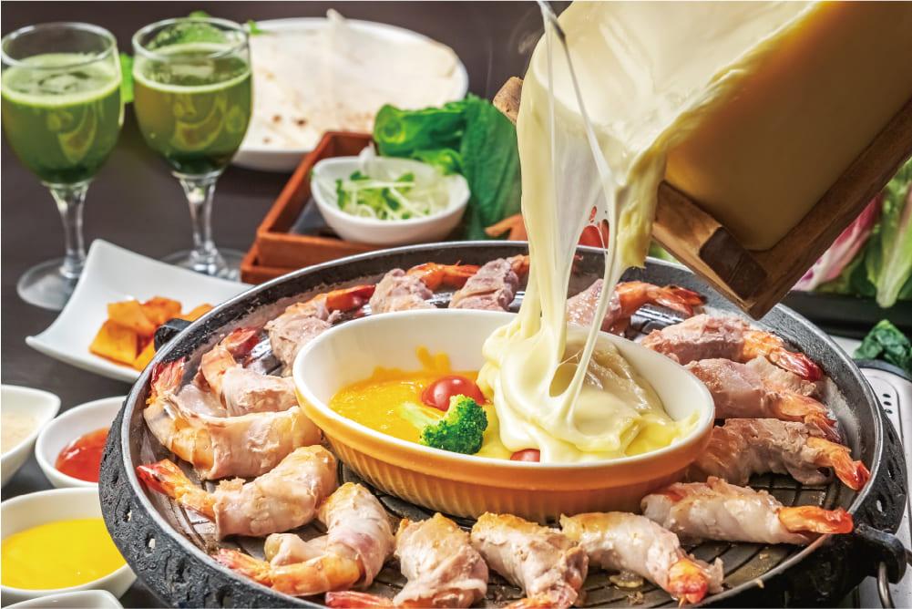 海老ロールサムギョプサル食べ放題コース