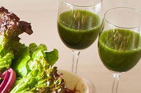残ったサンパで野菜ジュース
